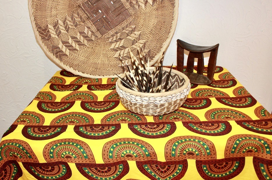 African Wax Fabric Table Cloth 150x100