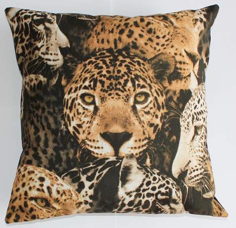 Scatter Cushion Leopard Heads