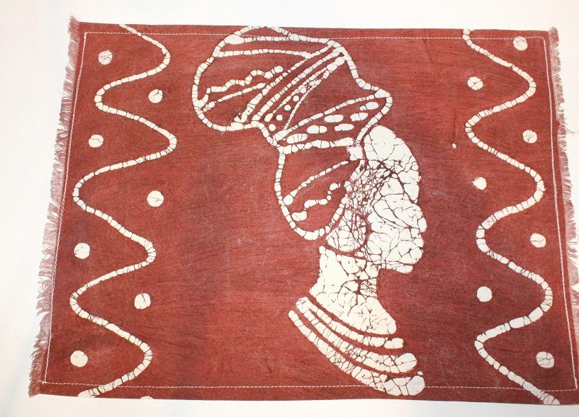 Handmade African Batik Placemat Lady Africa