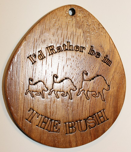 Wooden Giant Keyring I'd Rather be in the Bush