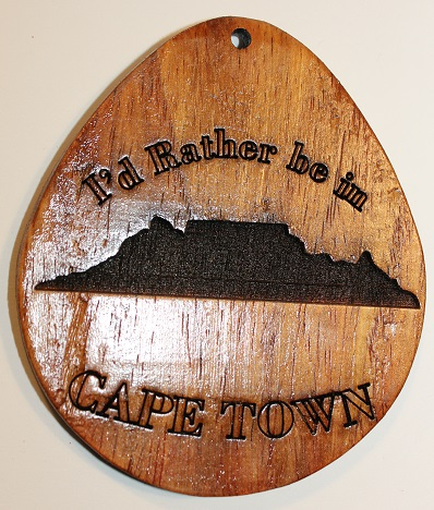 Wooden Giant Keyring I'd Rather be in Cape Town