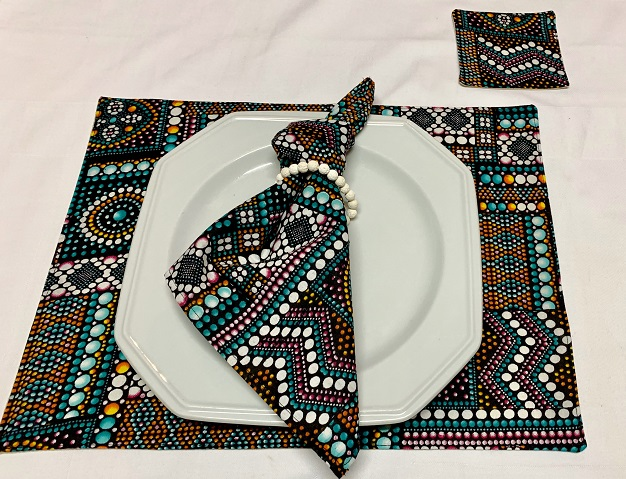 African Wax Fabric Placemat