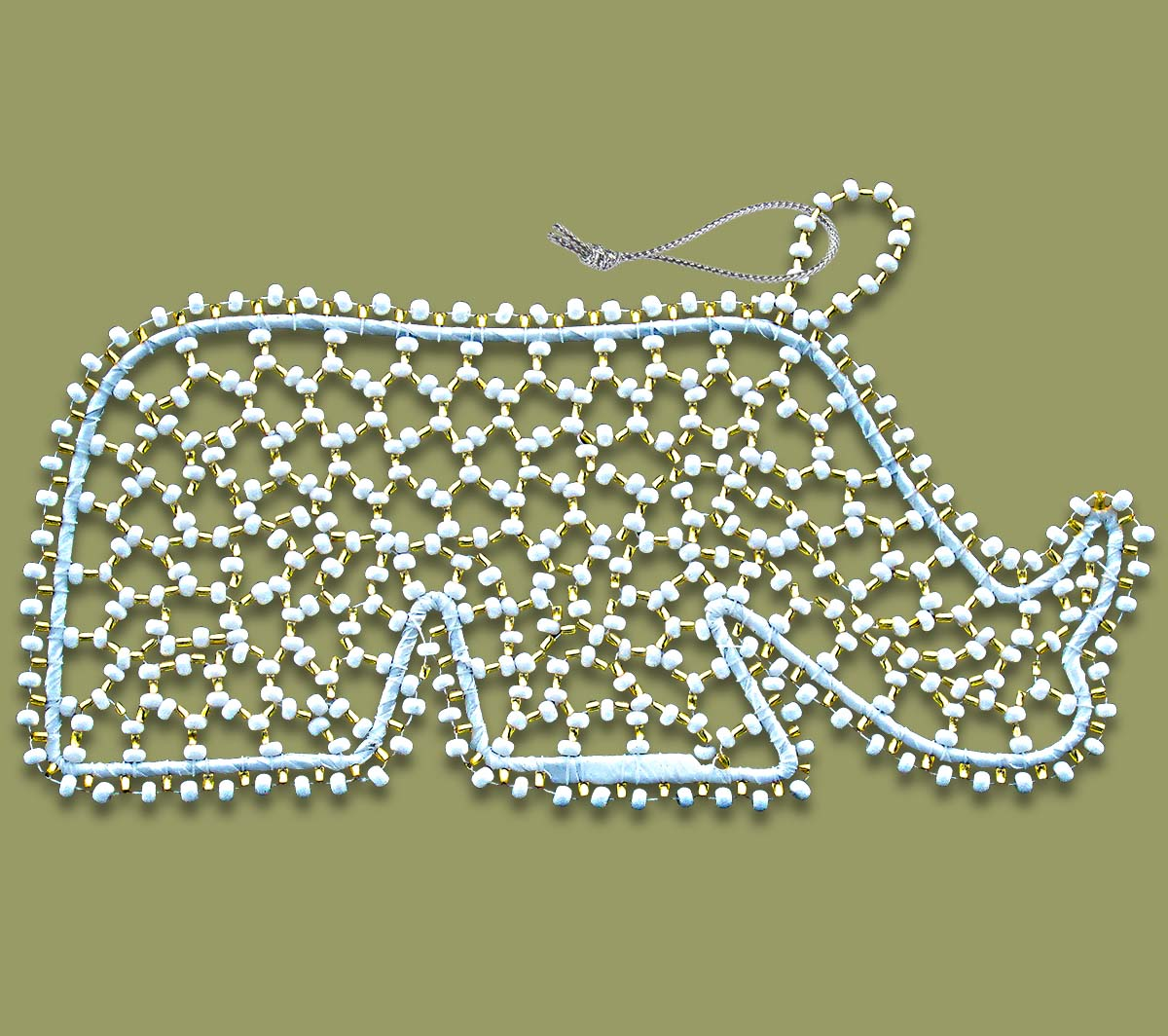 african-christmas-decorations-beaded-rhino73