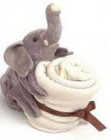 handpuppet with Blanket Elephant