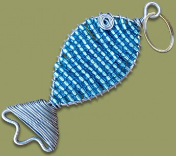 african-beaded-fish-keyring-13