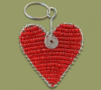 african-beaded-keyring-heart