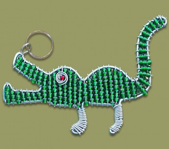 beaded-key-ring-crocodile