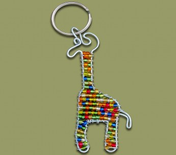 beaded-key-ring-giraffe